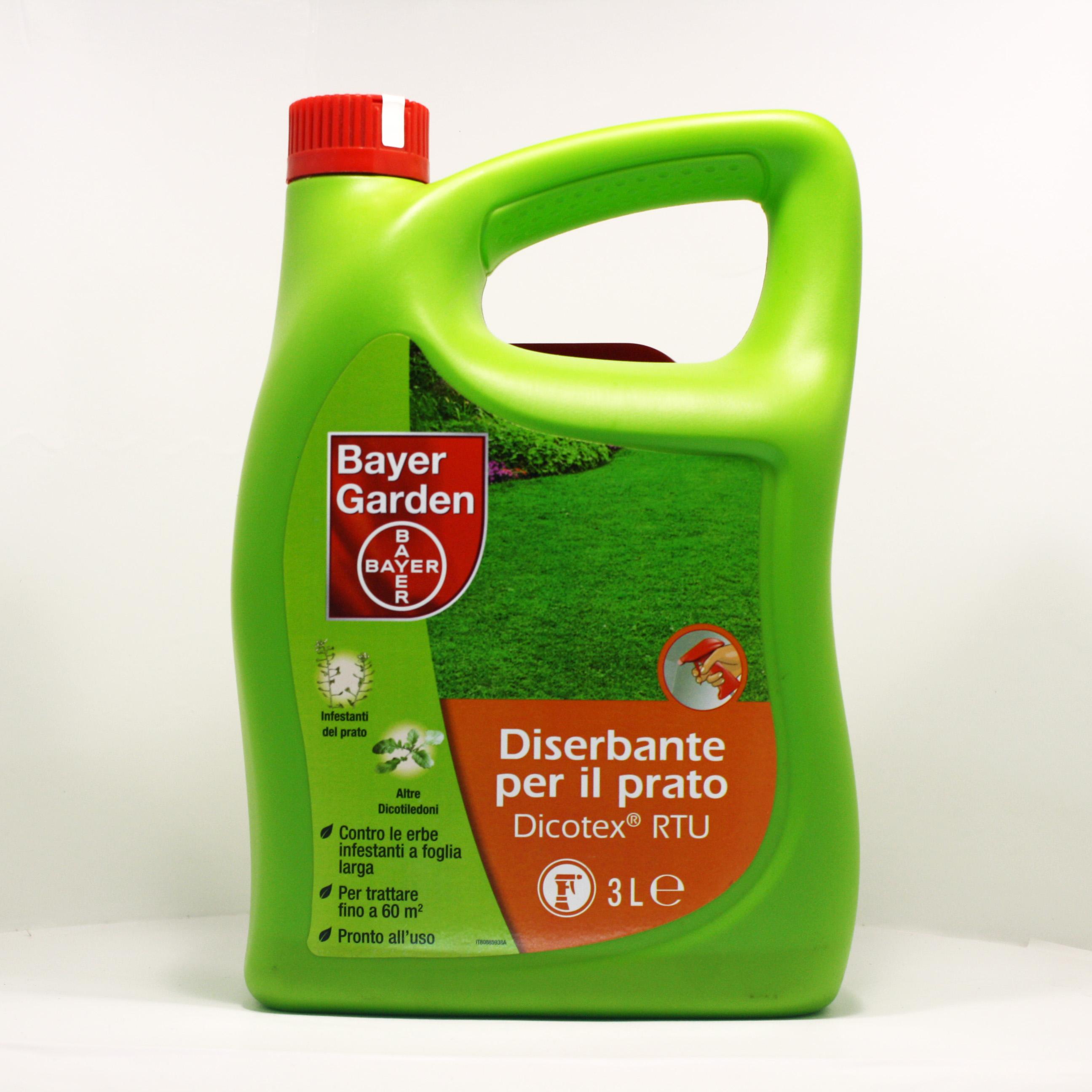 Bayer garden dicotex rtu diserbante per il prato for Diserbante per prato
