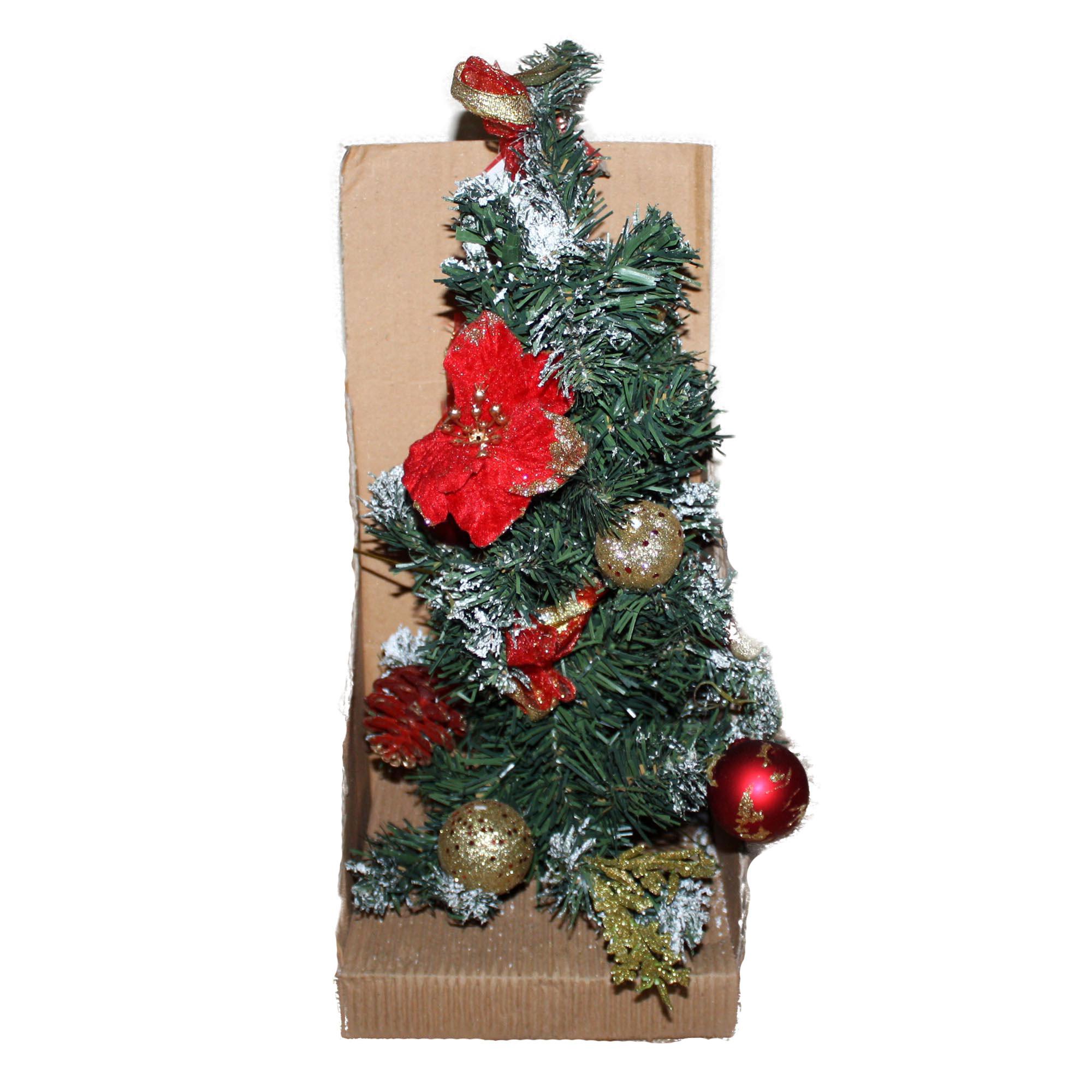 Albero natale piccolo con palline 40cm addobbato addobbi for Addobbi albero