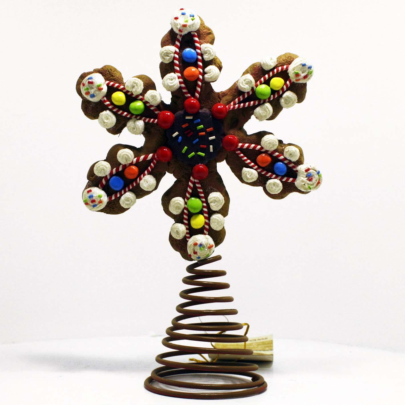 Puntale albero di natale forma di biscotto con caramelle - Decorazioni albero natale ...