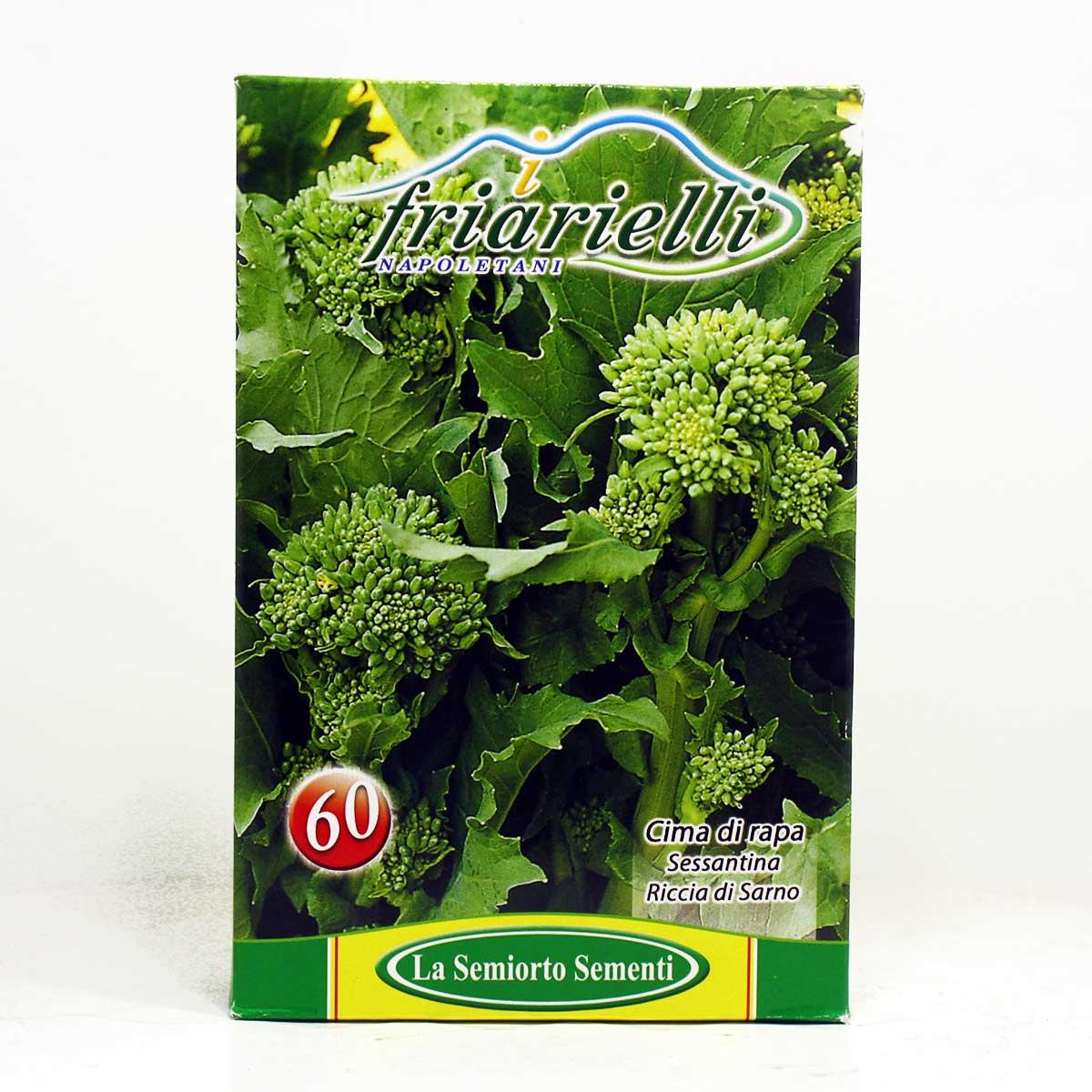 Sementi orto cima di rapa sessantina semi ortaggi for Semina a spaglio