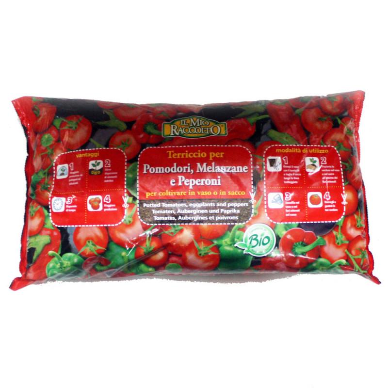 Terriccio biologico per pomodori e melanzane vigor plant for Terriccio per limoni in vaso
