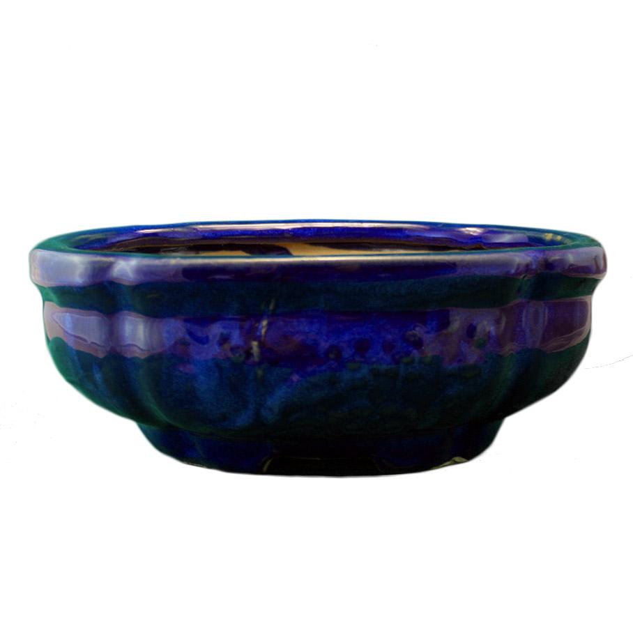 vaso per bonsai fiore blu smeraldo varie dimensioni