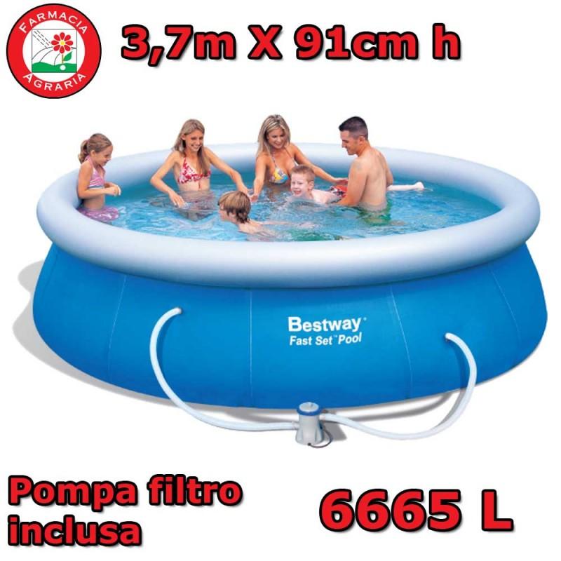 Piscina fuori terra bestway 3 66m x 91cm con pompa filtro for Accessori piscine fuori terra bestway