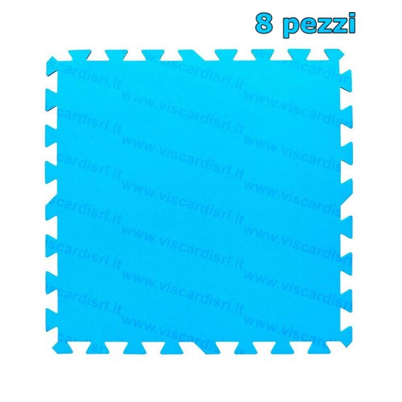 Tappeto fondo piscina bestway 8 pezzi in polietilene for Tappeto per piscina intex