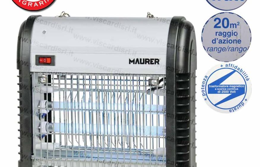 Ammazza Zanzare MAURER Elettroinsetticida 12 Watt 20m²