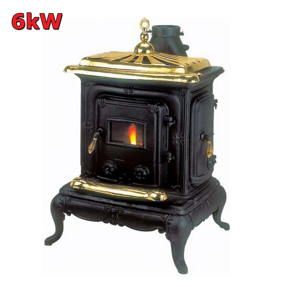 Stufe a legna ghisa parlor big 6 kw con scaldavivande - Stufe in ghisa a legna usate ...