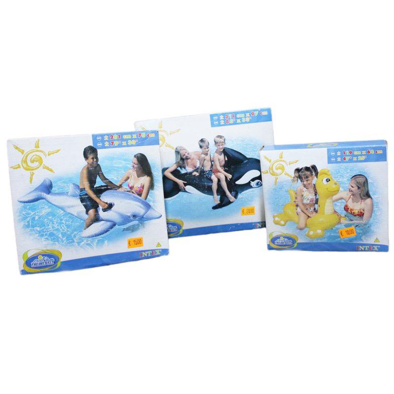 Animali gonfiabili cavalcabili per mare e piscine intex for Accessori per piscine intex