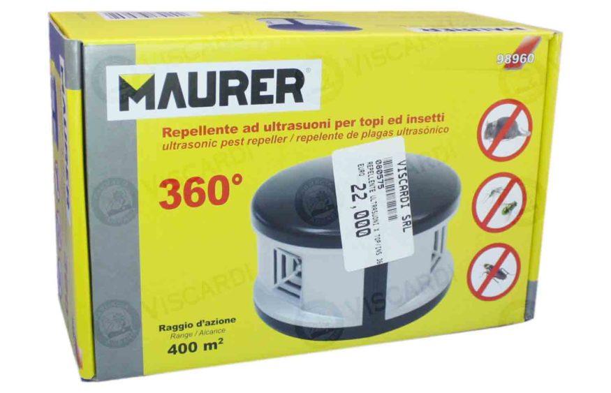 Repellente ad ultrasuoni per topi ed insetti 360° MAURER - Farmacia Agraria Viscardi