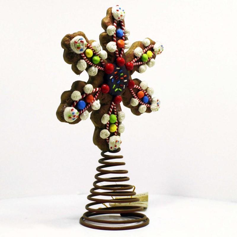 Decorazioni Natalizie Caramelle.Puntale Albero Di Natale Forma Di Biscotto Con Caramelle Regali Decorazioni