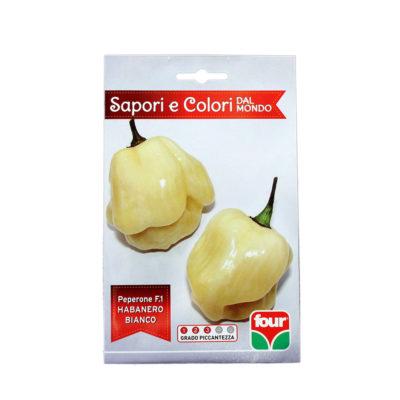 Habanero Bianco Semi Peperone Piccante F.1 FOUR