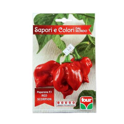 Habanero Red Scorpion Semi Peperone Piccante F.1 FOUR