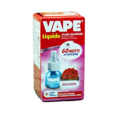 Liquido Antizanzare Ricarica Insetticida GERANIO 60 notti di protezione