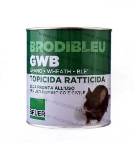 Topicida Ratticida BRODIBLEU GWB BRUER Esca grano veleno per topi