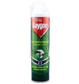 BAYGON Scarafaggi e Formiche Schiuma attiva Insetticida protezione continua