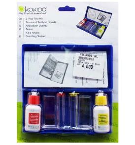 Test acqua piscina Kit KOKIDO per pH, cloro libero e bromo