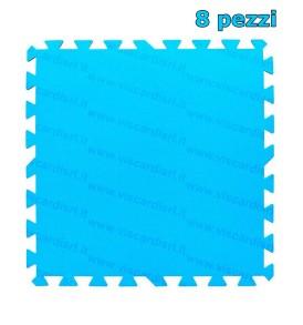 Tappeto Fondo Piscina BESTWAY 8 pezzi in polietilene