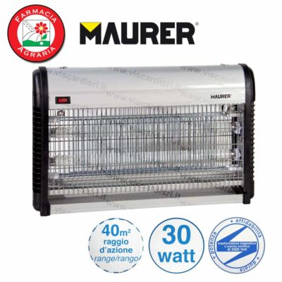 Sterminatore Insetti MAURER Elettroinsetticida 30 Watt 40m²