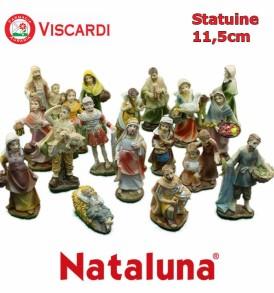 Statuine Presepe 11,5cm NATALUNA 23 figure assortite