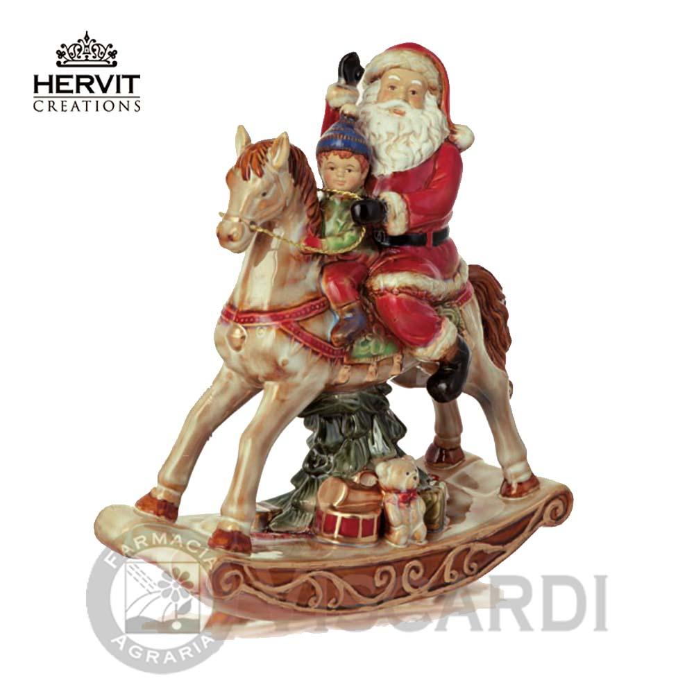 hervit porcellana cavallo a dondolo ceramica 23 cm. Black Bedroom Furniture Sets. Home Design Ideas