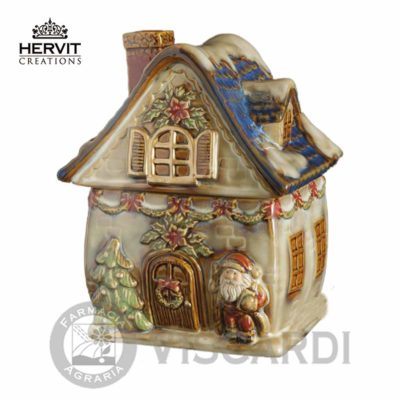 HERVIT Natale Contenitore casa in ceramica 20 cm