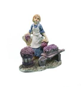 Statuine per Presepe 10cm NATALUNA 4 scene assortite dipinte in resina artificiale