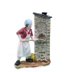 Statuine Presepio 13,5cm NATALUNA 6 figure assortite dipinte in resina artificiale