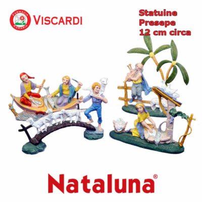 Statue Presepio 12cm circa 14 figure assortite in plastica