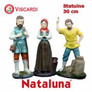 Figure Presepe 30cm NATALUNA 7 Statuine assortite dipinte in resina artificiale