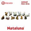 Animali Presepe 6cm circa NATALUNA 12 figure assortite dipinte in resina artificiale