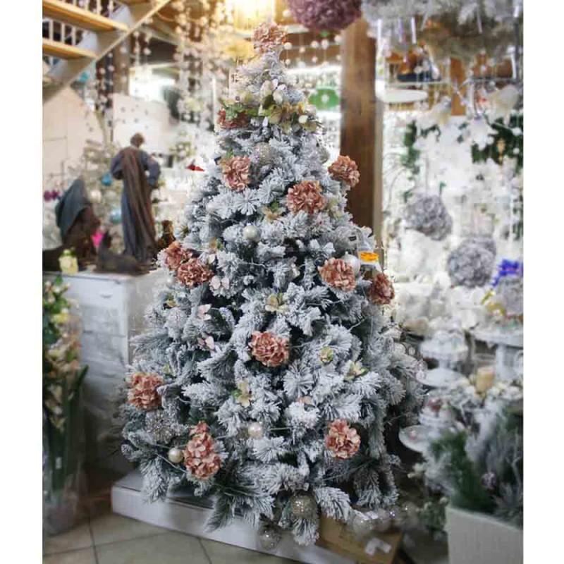 Albero Di Natale Innevato.Albero Natale Innevato Elba Nataluna 2 Altezze Diverse