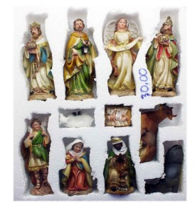 Natività Presepe 15,5cm NATALUNA 11 Statuine assortite in resina artificiale
