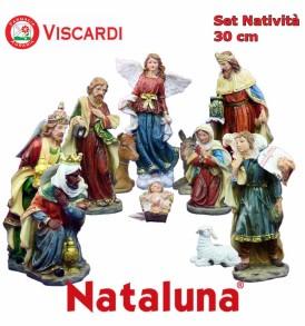 Natività Presepe Napoletano 30 cm NATALUNA 11 Statuine assortite in resina