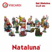 Set Presepe 11,5cm NATALUNA 14 Statuine assortite in resina artificiale