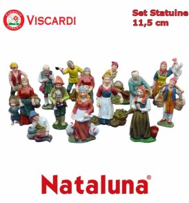 Set Presepe 11,5cm NATALUNA 14 Statuine assortite in resina artificiale