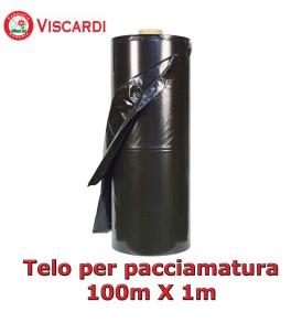 Telo per pacciamatura Nero 100m X 1m - Film di Polietilene protettivo per il terreno viscardi srl